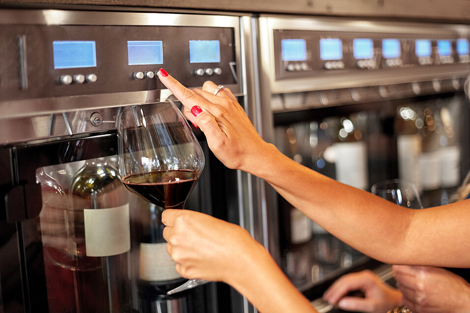 self-serve wine kiosk
